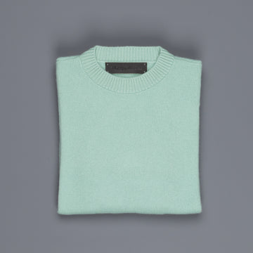 The Elder Statesman  @ Frans Boone Cashmere Simple Crew Unisex sweater Mint
