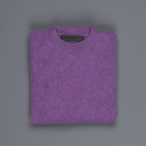 The Elder Statesman  @ Frans Boone Cashmere Simple Crew Unisex sweater Amethyst