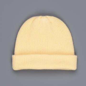 The Elder Statesman 100% Cashmere Watchman cap in Butter