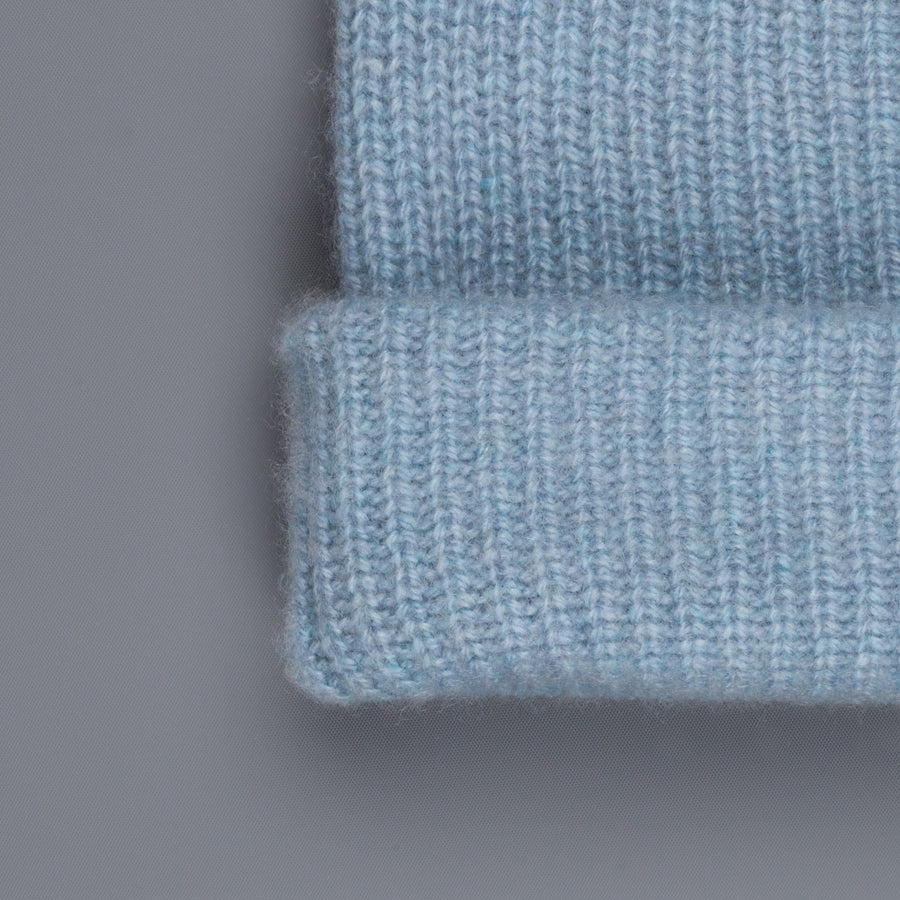 The Elder Statesman 100% Cashmere Watchman cap in Baby Blue