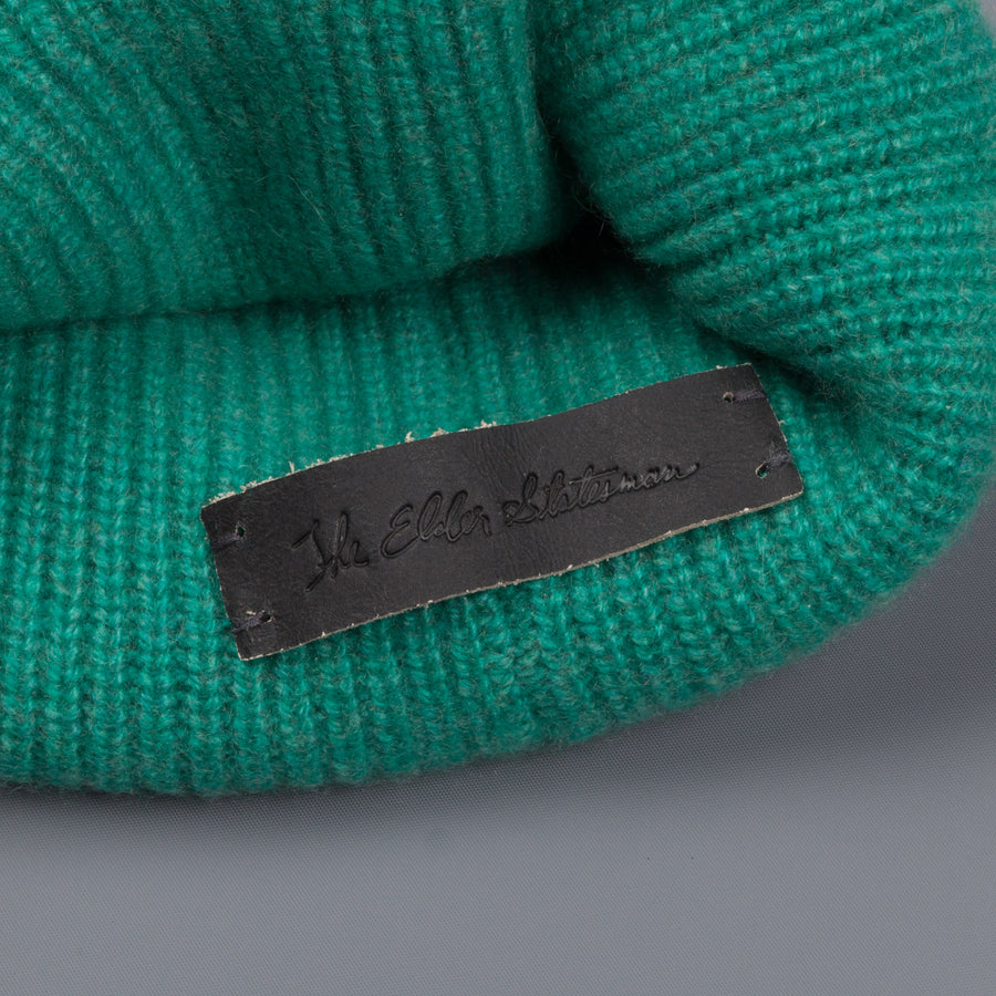 The Elder Statesman 100% Cashmere Watchman cap in Turquoise