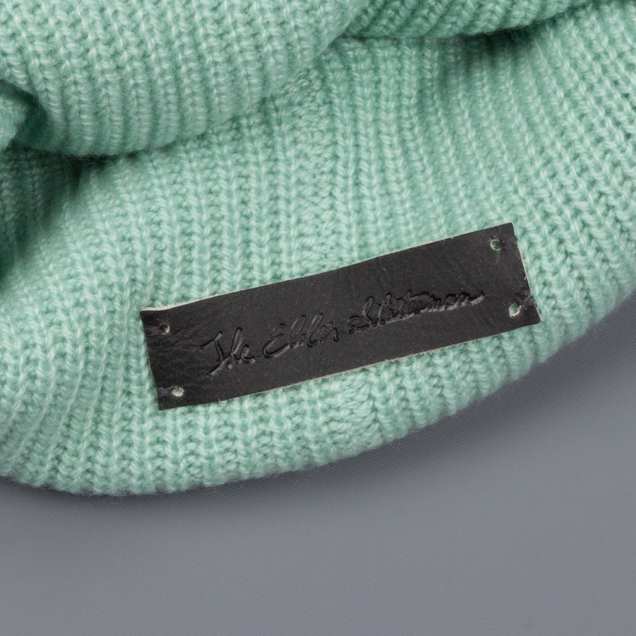 The Elder Statesman 100% Cashmere Watchman cap in Mint