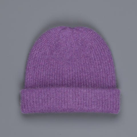 The Elder Statesman 100% Cashmere Watchman cap in Amethyst