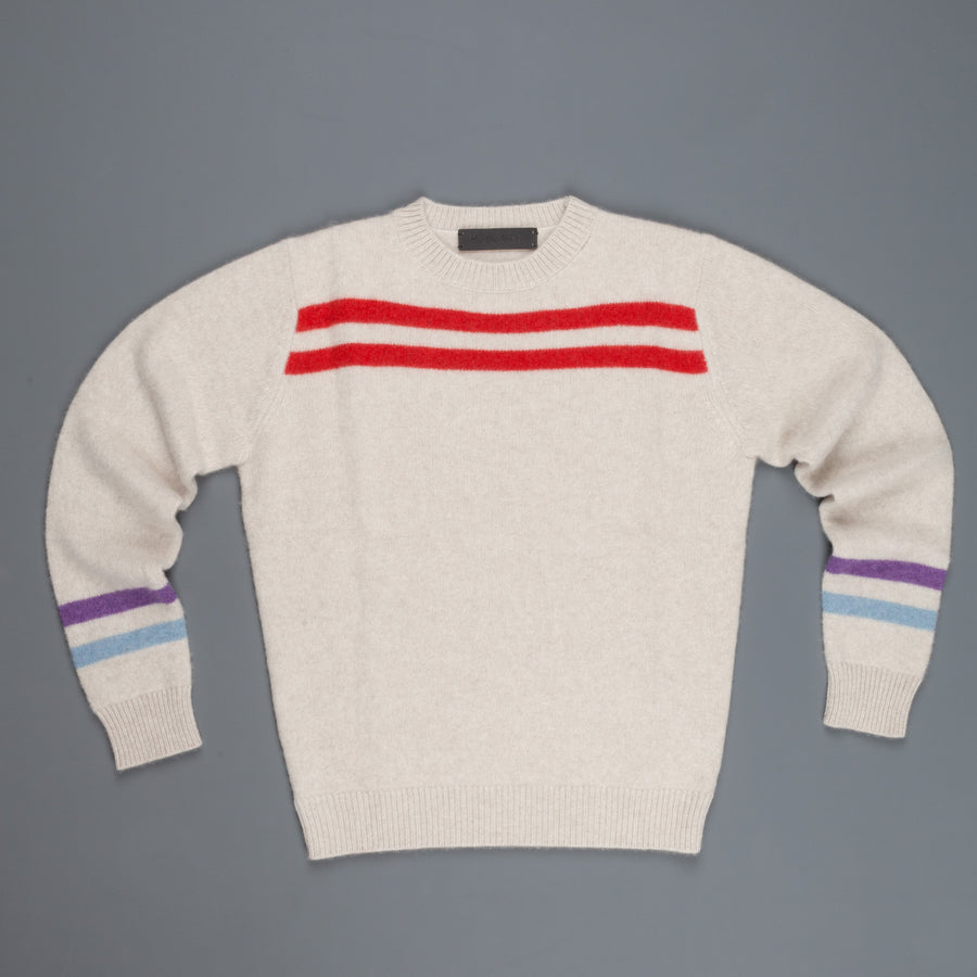 The Elder Statesman Heavy Space Stripe Crew