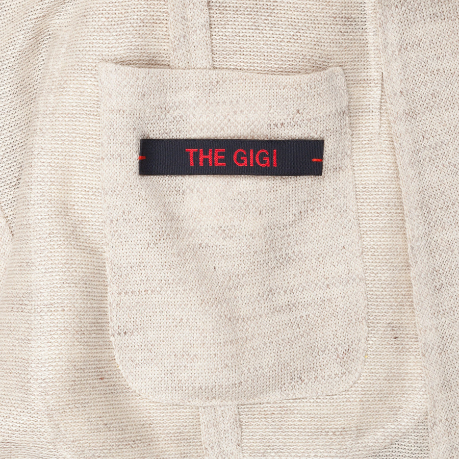 The Gigi Velvet Unlined linen jersey jacket Tan