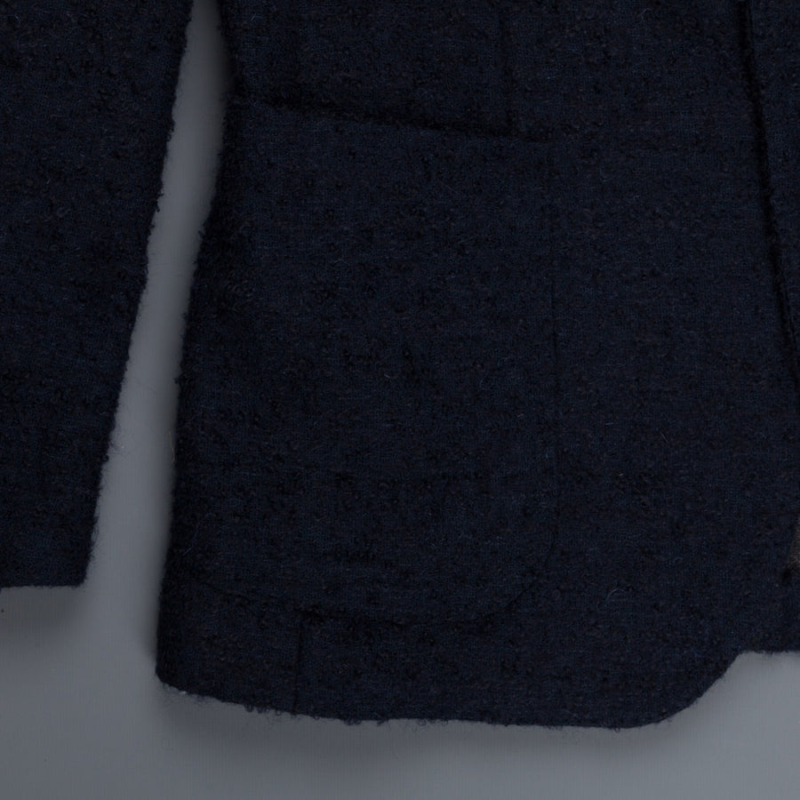 The Gigi Degas jacket navy wool mohair Bouclé