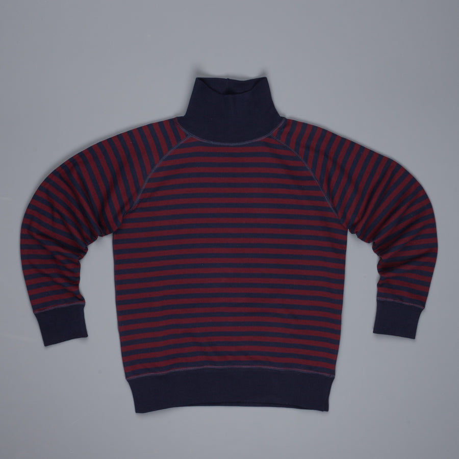 The Gigi Delo turtle neck bordeaux navy stiped