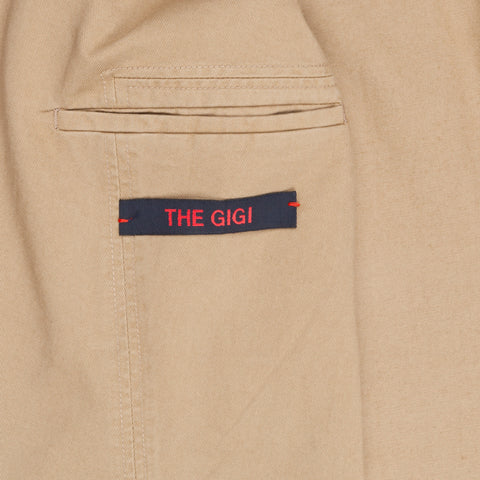 The Gigi Double Breasted Art in garment dyed cotton sand