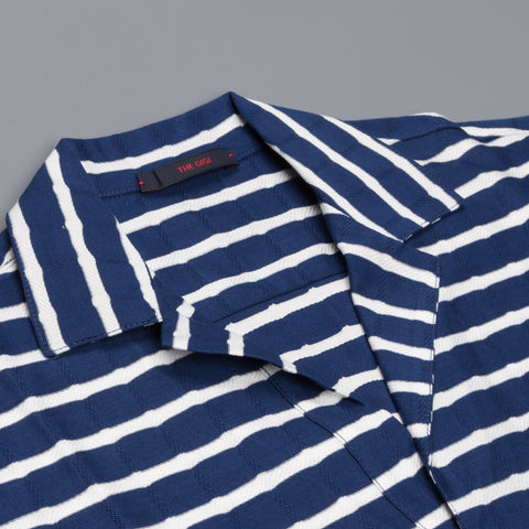 The Gigi Paro Polo Blue White Stripe