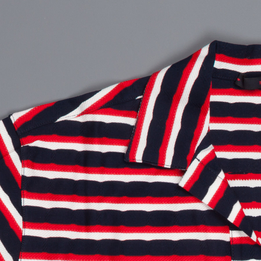 The Gigi Paro Polo Navy Red White Stripe