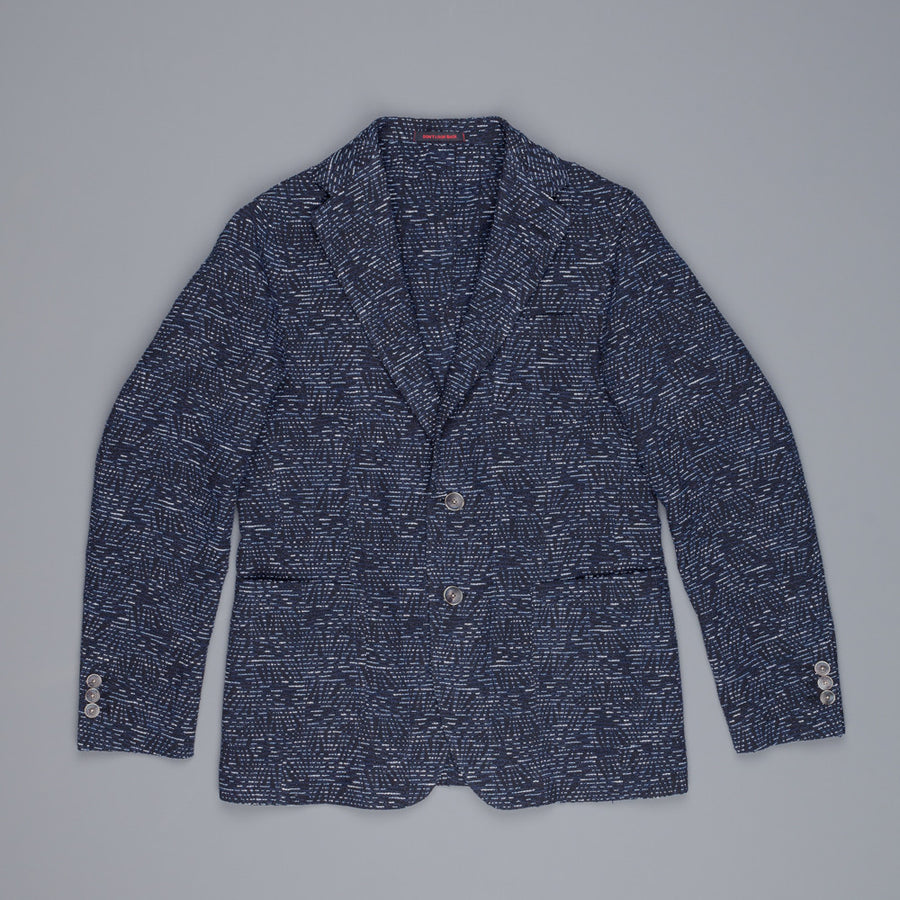 The Gigi angie jacket jaquard jungle navy