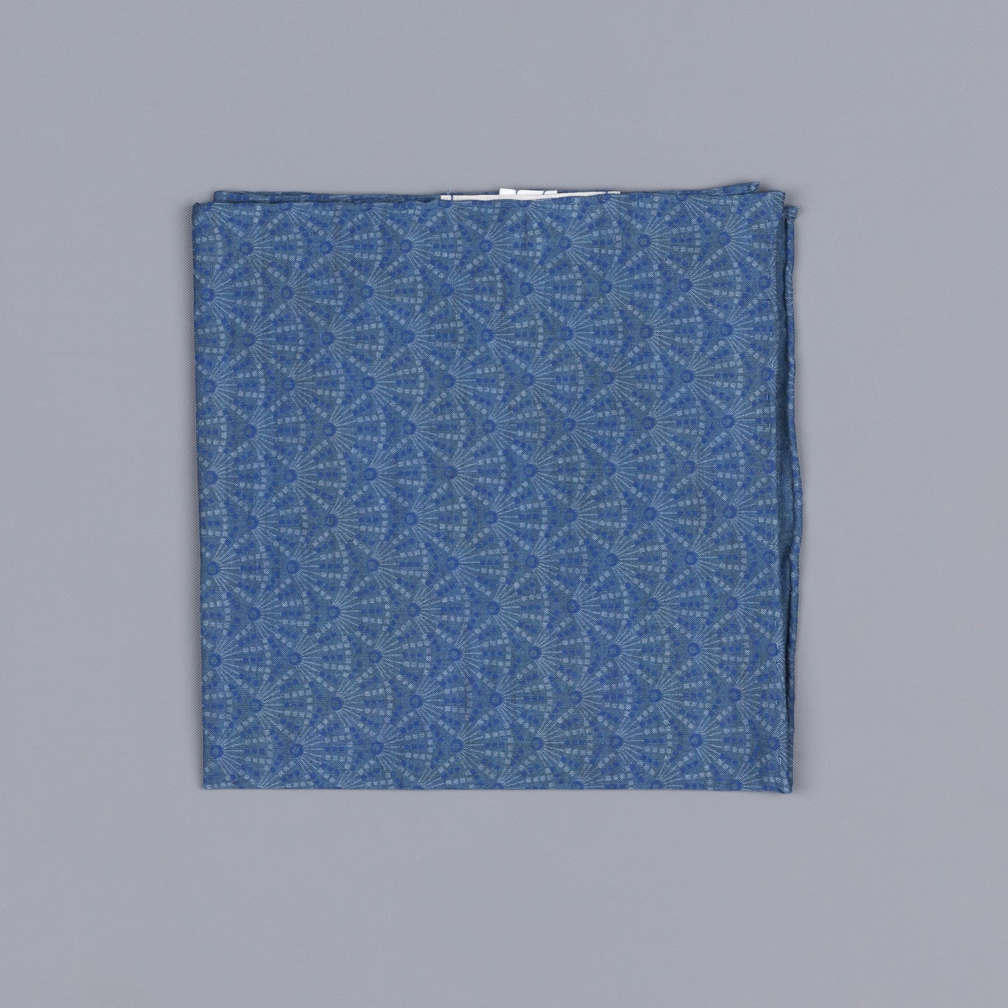 Thomas Mason pocket square indigo print