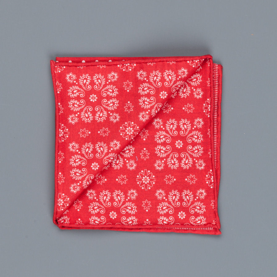 Thomas Mason Pocket Square Canterbury Polka Dot Red