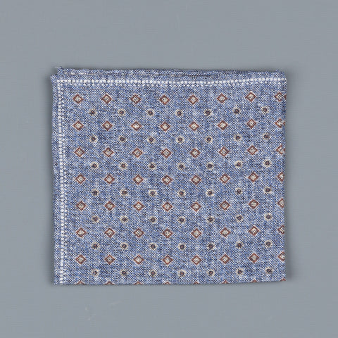 Thomas Mason Pocket Square Canterbury Geometric Print