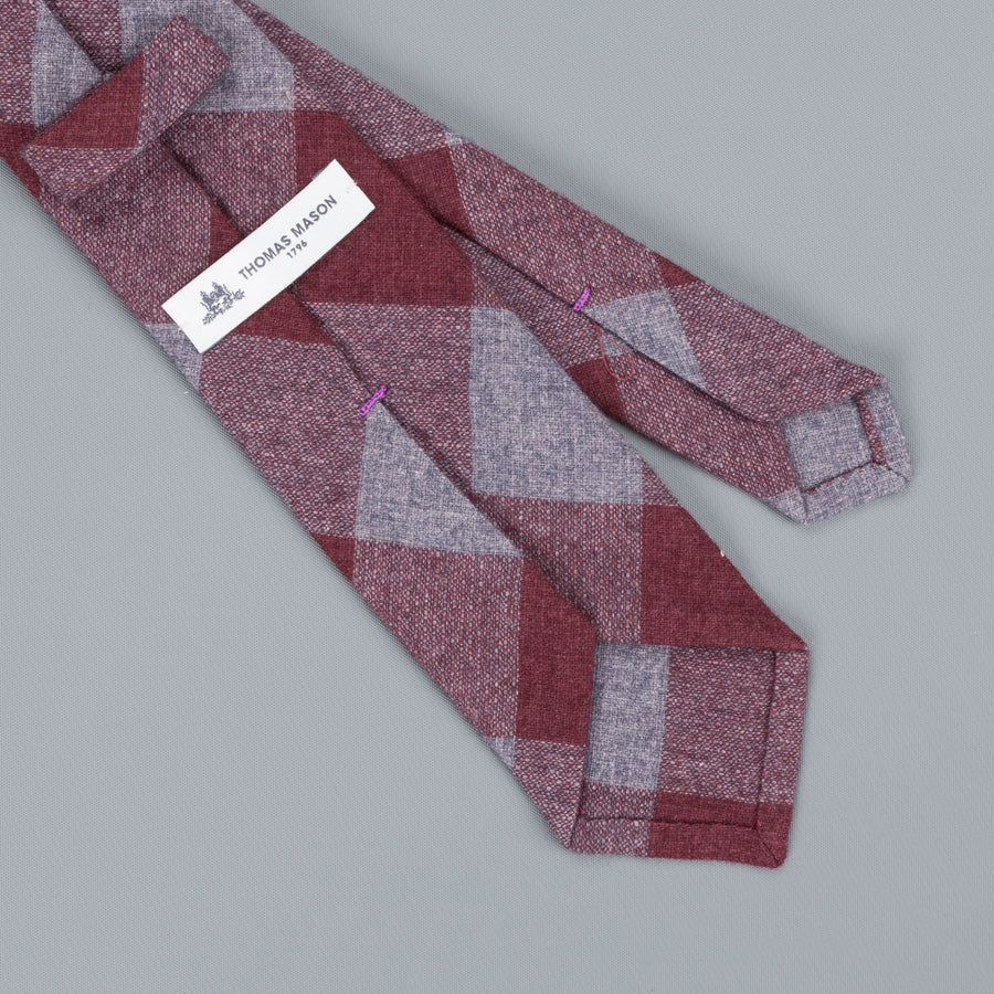 Thomas Mason Tie Soho Burgundy-grey
