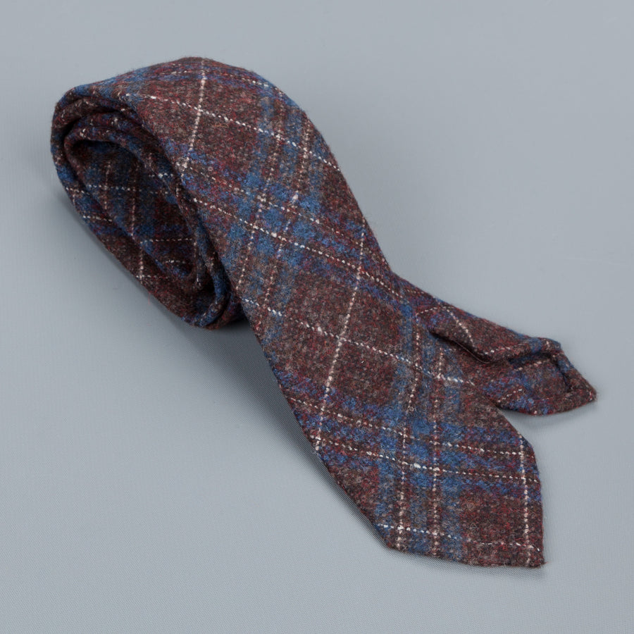 Thomas Mason Tie George Burgundy Blue