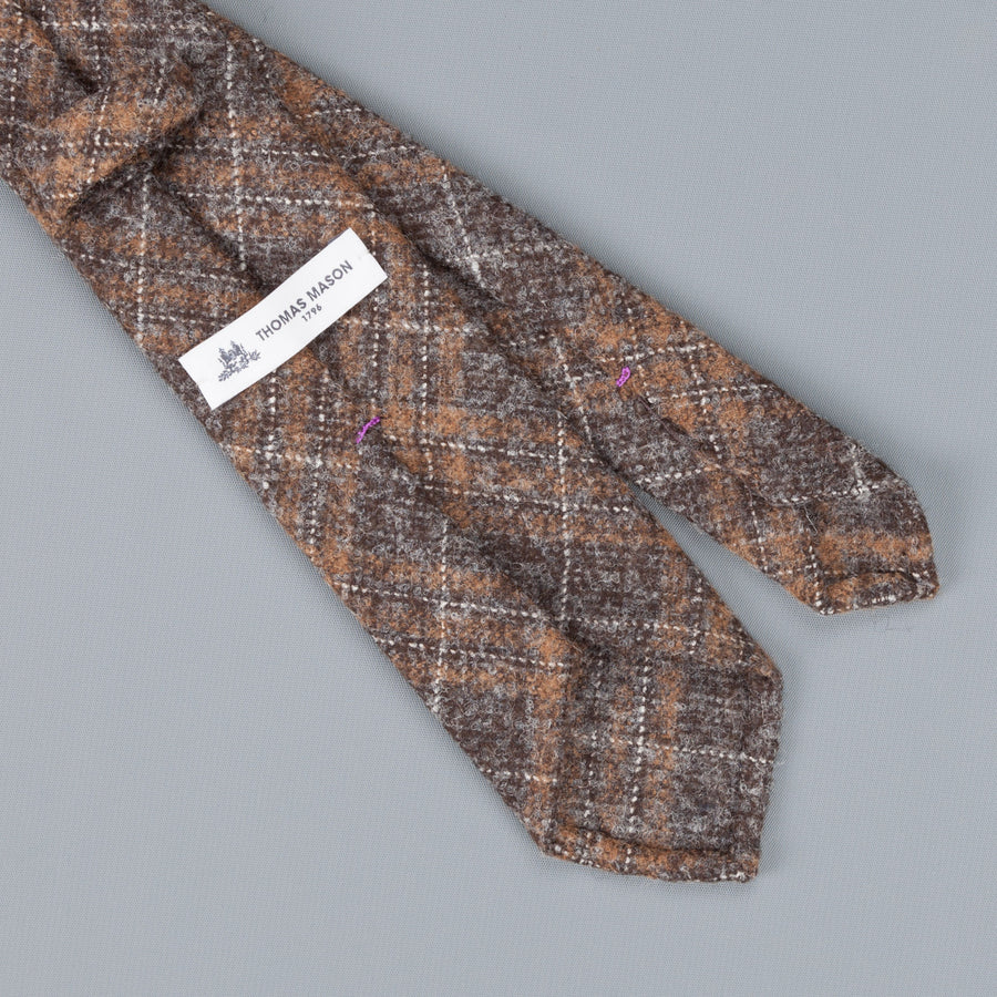 Thomas Mason Tie George Alpaca - Wool Grey Brown