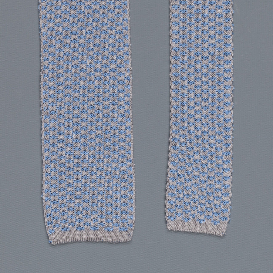 Thomas Mason Ties Paul Silk Jacquard Blue Medio Noce