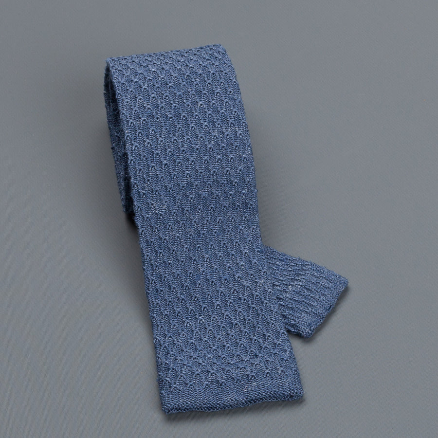 Thomas Mason Tie John Silk Blue