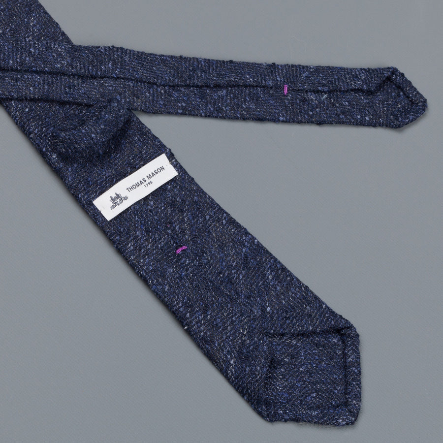 Thomas Mason Tie George Navy Pile Stitch