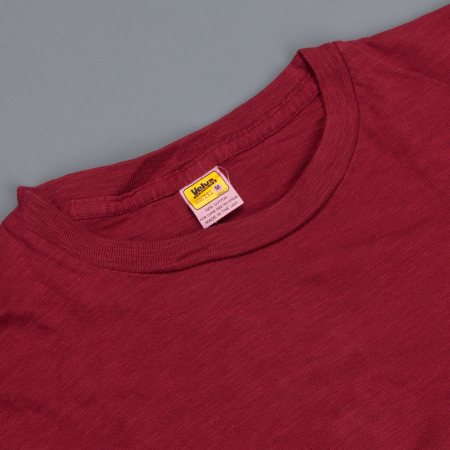 Velva Sheen roll tee Burgundy