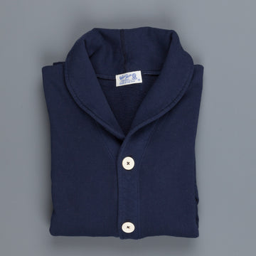 Velva Sheen 10 Oz Shawl Cardigan Navy