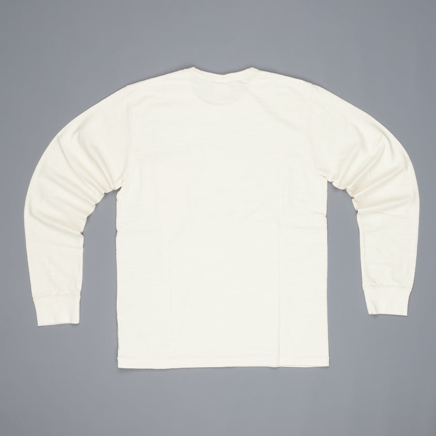 Velva Sheen Recycled Cotton Longsleeve Crew Neck Tee Oatmeal
