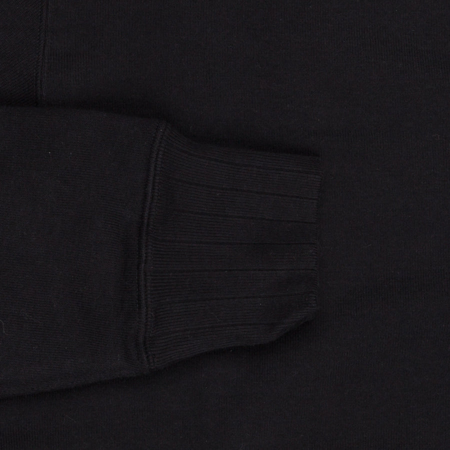 Velva Sheen Japanese Crew Neck Sweat Black
