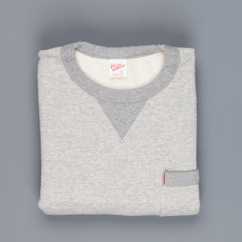 Velva Sheen Japanese Crew Neck Sweat Grey