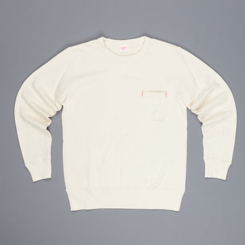 Velva Sheen Japanese Crew Neck Sweat Oatmeal