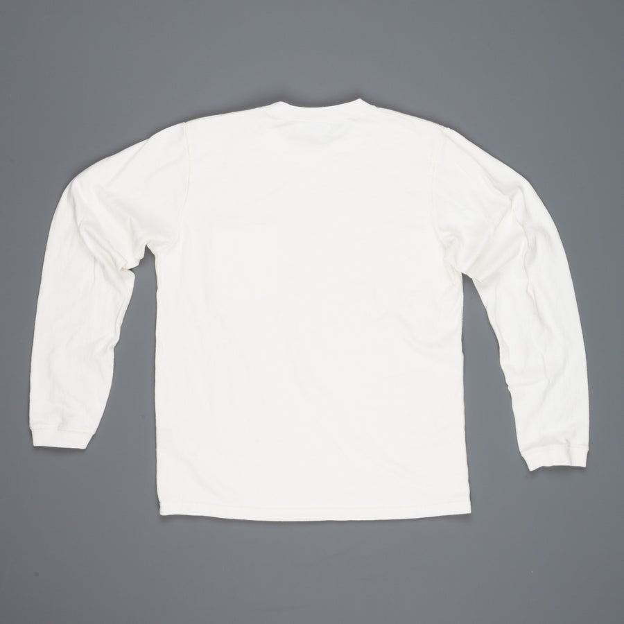 Velva Sheen heavy oz. Longsleeve pocket tee white