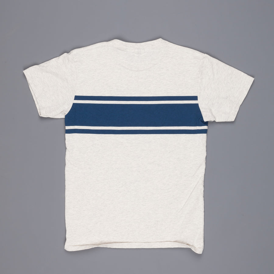 Velva Sheen College stripe tee Oatmeal