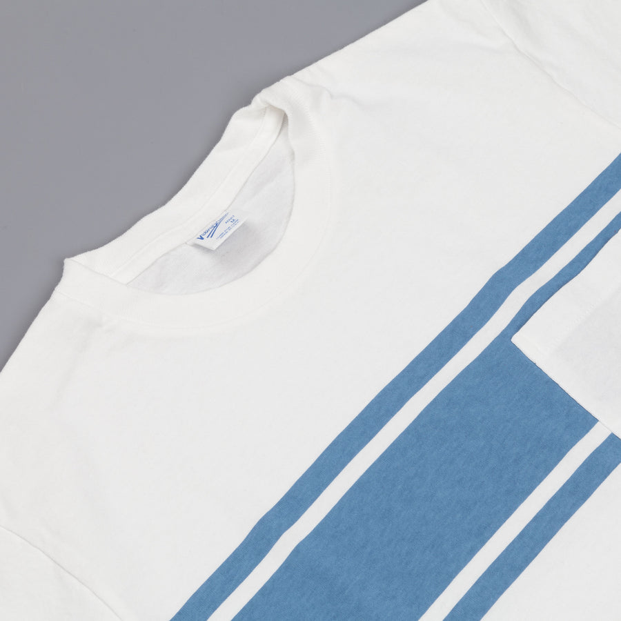 Velva Sheen College stripe tee white