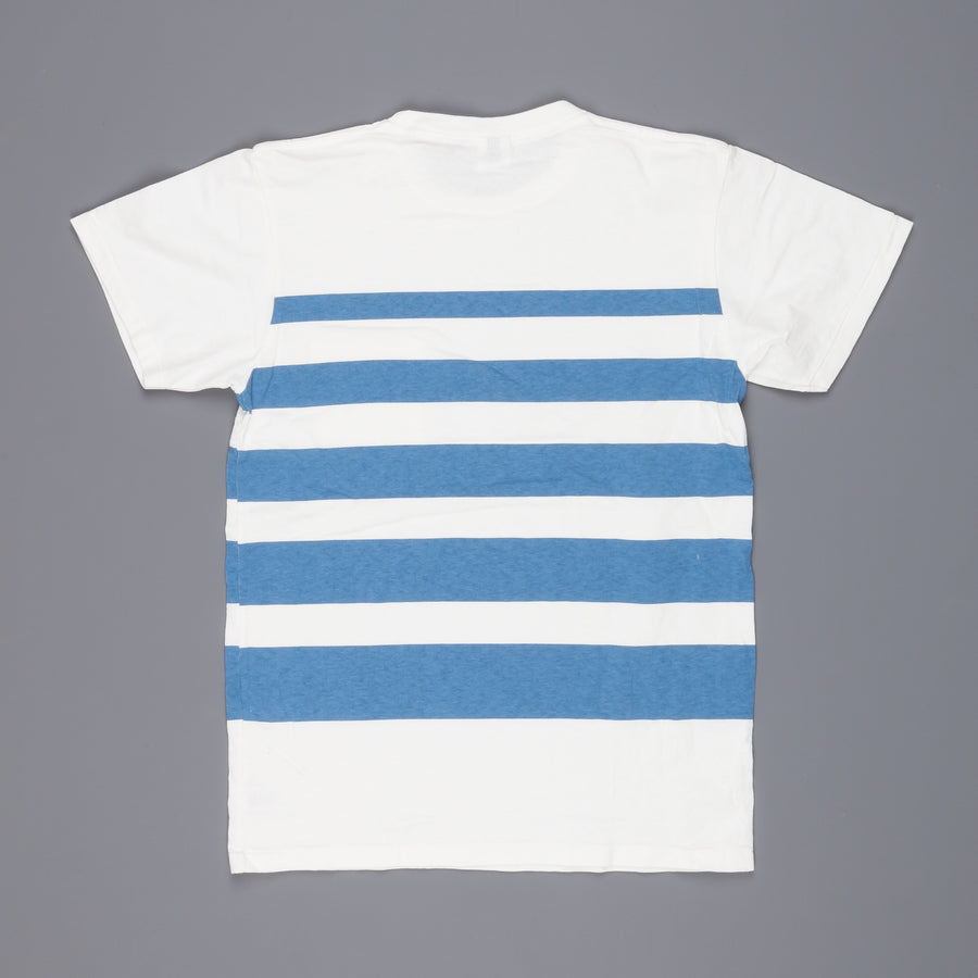 Velva Sheen Wide wave stripe tee white