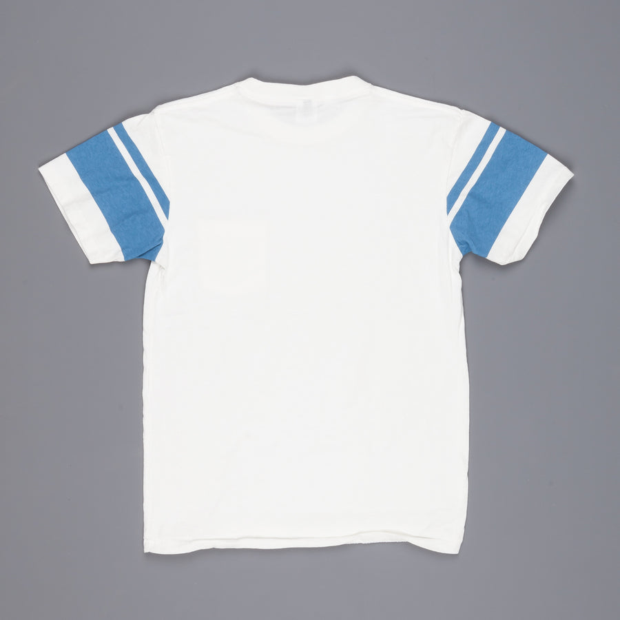 Velva Sheen College arm stripe tee white