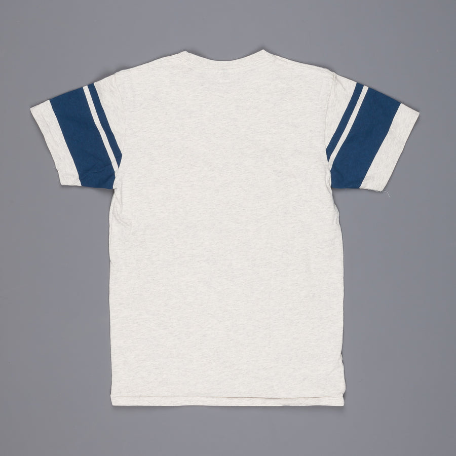 Velva Sheen College arm stripe tee Oatmeal
