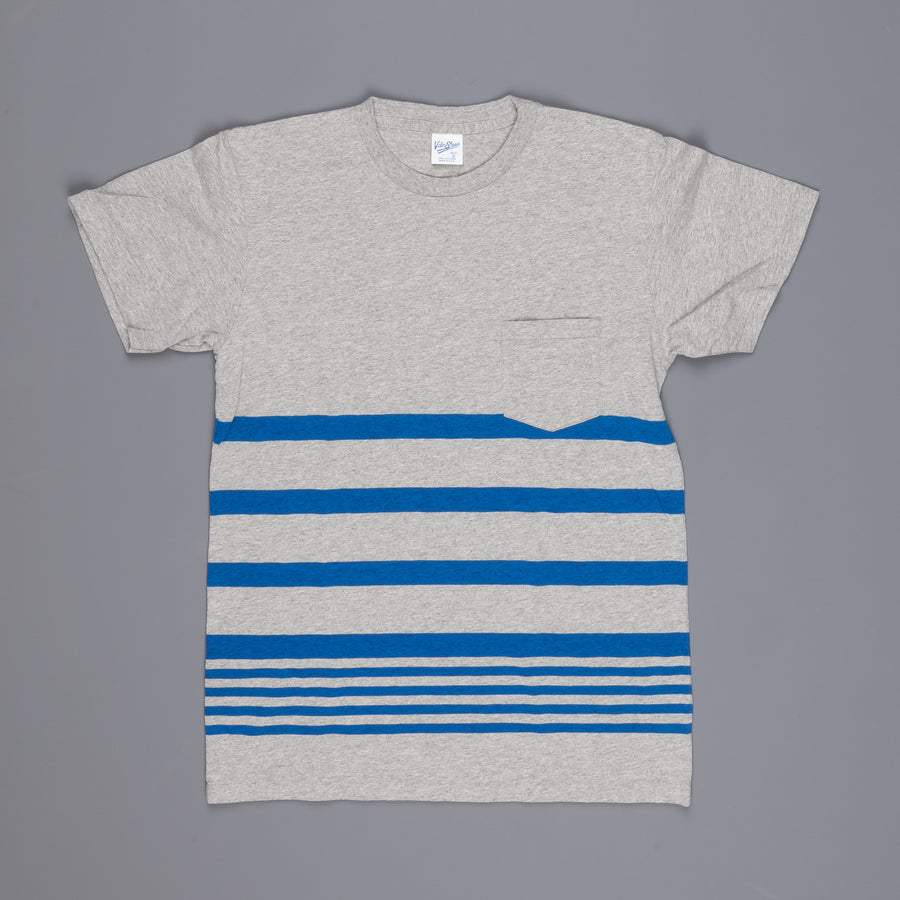 Velva Sheen Narrow wave stripe tee heather grey