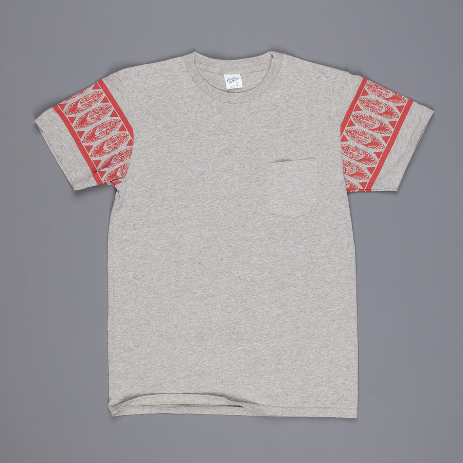 Velva Sheen Polynesian tee heather grey