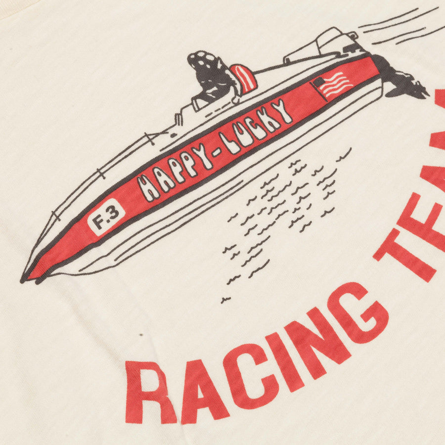 Velva Sheen shortsleeve Racing team tee ivory