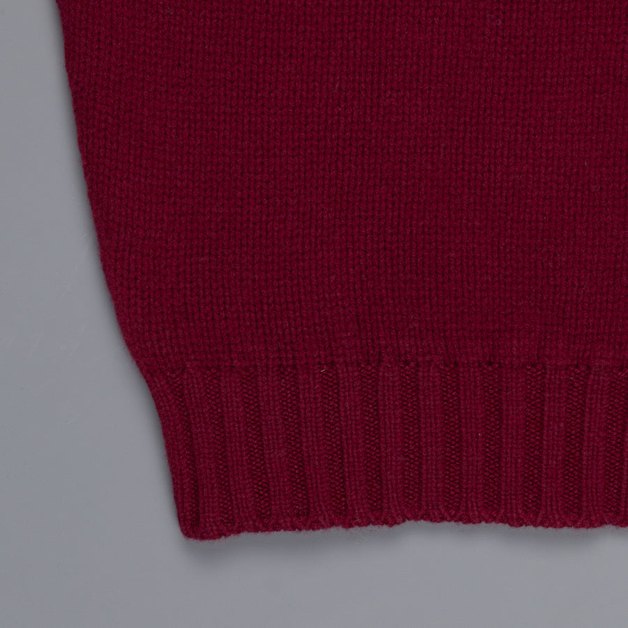 William Lockie Alain Lambswool Roll Neck Bordeaux
