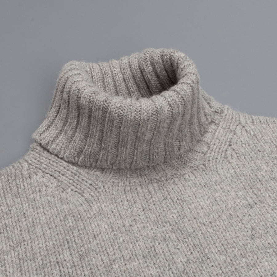 William Lockie Alain Lambswool Roll Neck Flannel