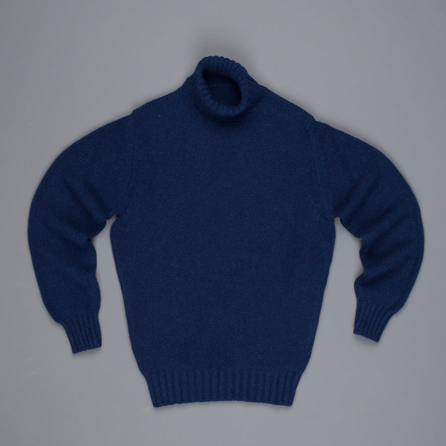 William Lockie Alain Lambswool Roll Neck Regatta