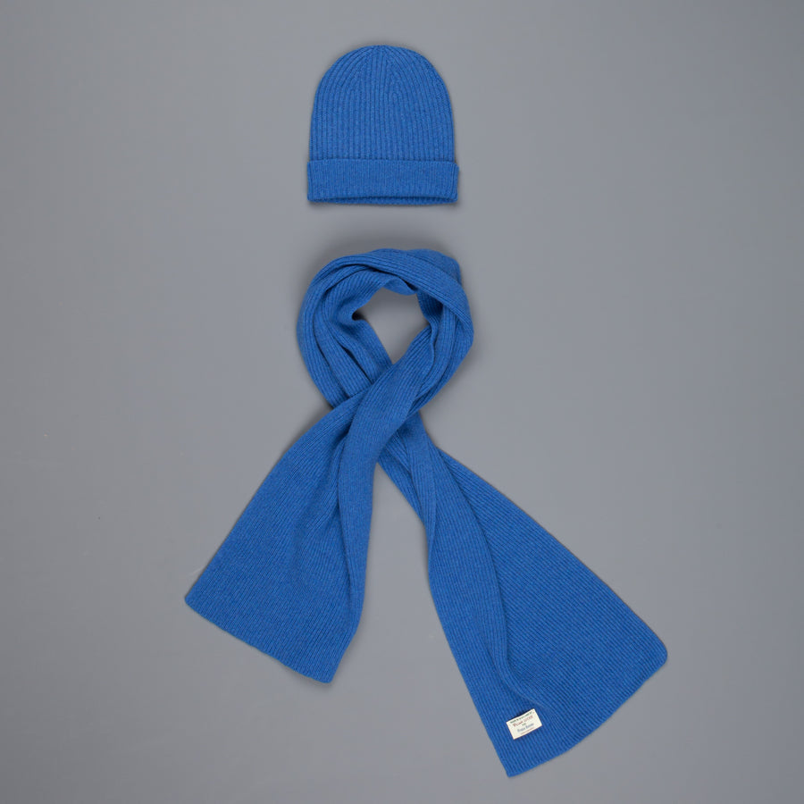 William Lockie Cashmere Ribbed Hat And Scarf Set M10064