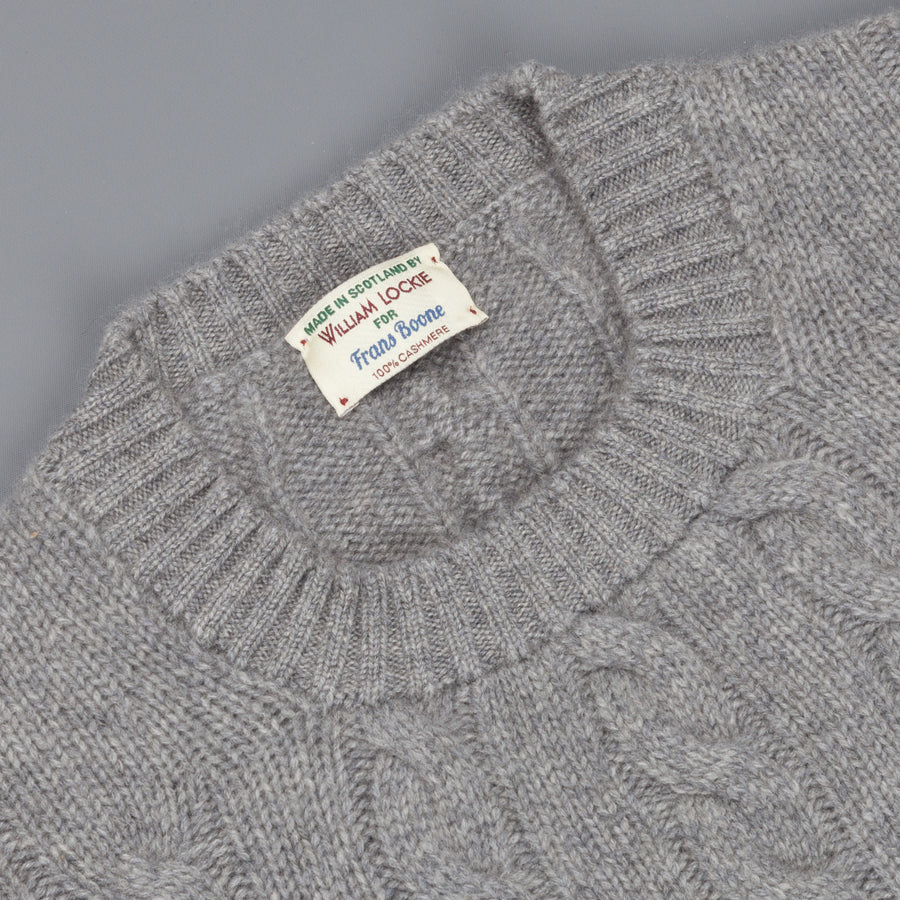 William Lockie Chirnside Cashmere Cable Crew Neck Flannel