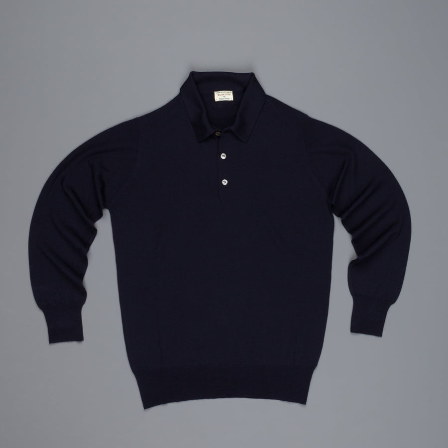 William Lockie Dorset Loro Piana Merino Wool Nero Navy