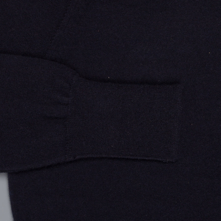 William Lockie Oxton Cashmere V-Neck Dark Navy