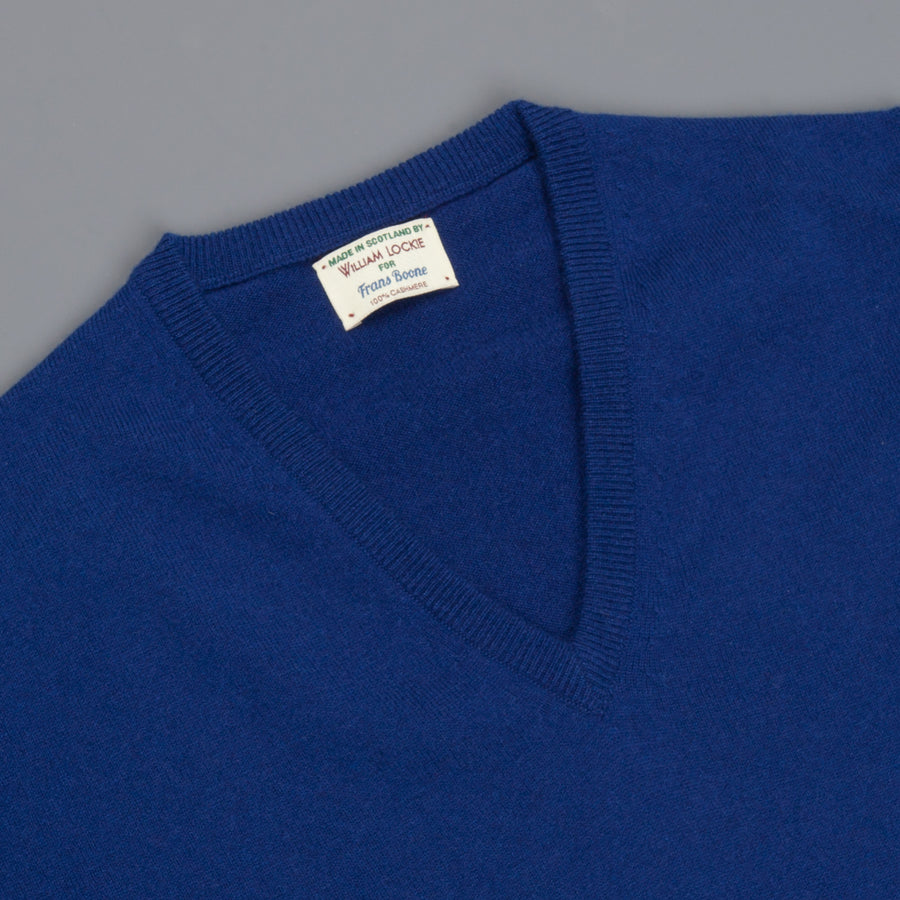 William Lockie Oxton Cashmere V-Neck Mahler
