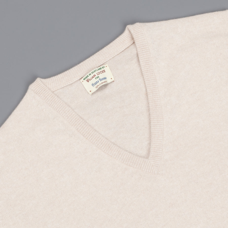 William Lockie Oxton Cashmere V-Neck Swansdown