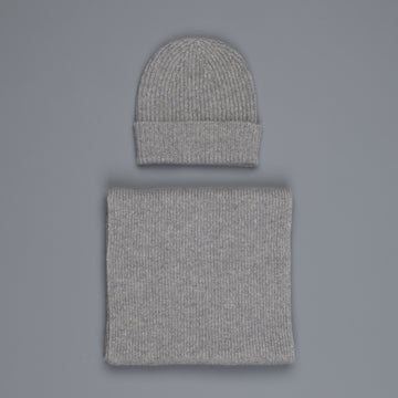 William Lockie Cashmere Ribbed Hat And Scarf Set Flannel