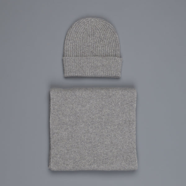 William Lockie Cashmere Ribbed Hat And Scarf Set Flannel Grey – Frans Boone  Store 4ab579b6e39